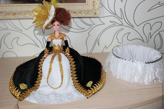 Техника ручной работы. Ярмарка Мастеров - ручная работа. Купить Кукла-шкатулка. Handmade. Комбинированный, парча, ткань, тесьма