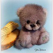 Куклы и игрушки ручной работы. Ярмарка Мастеров - ручная работа Норковый Мишка тедди Сапфирчик. Handmade.