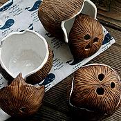 Посуда handmade. Livemaster - original item Coconut bowl closed. Coco nut. Handmade.