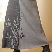 Одежда ручной работы. Ярмарка Мастеров - ручная работа Юбка вязаная Графика. Handmade.