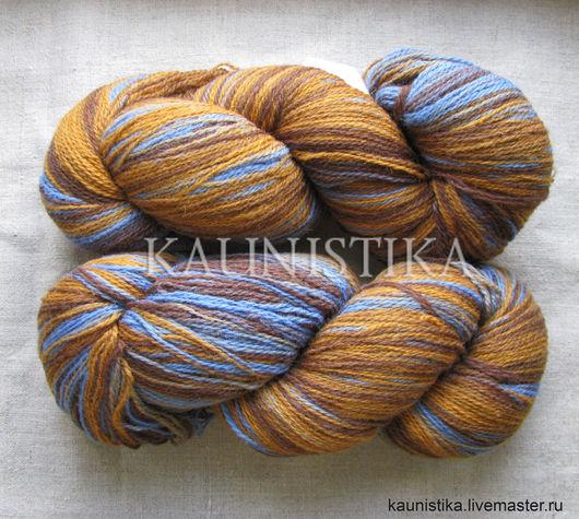 Вязание ручной работы. Ярмарка Мастеров - ручная работа. Купить Кауни Brown-Blue 8/2 (Коричневый-синий). Handmade. Коричневый