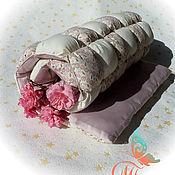 """Для дома и интерьера ручной работы. Ярмарка Мастеров - ручная работа """"Зефирка"""" одеяло-покрывало (бомбон, пуфики). Handmade."""