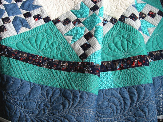 """Текстиль, ковры ручной работы. Ярмарка Мастеров - ручная работа. Купить Лоскутное покрывало """"В ожидании весны"""". Handmade."""
