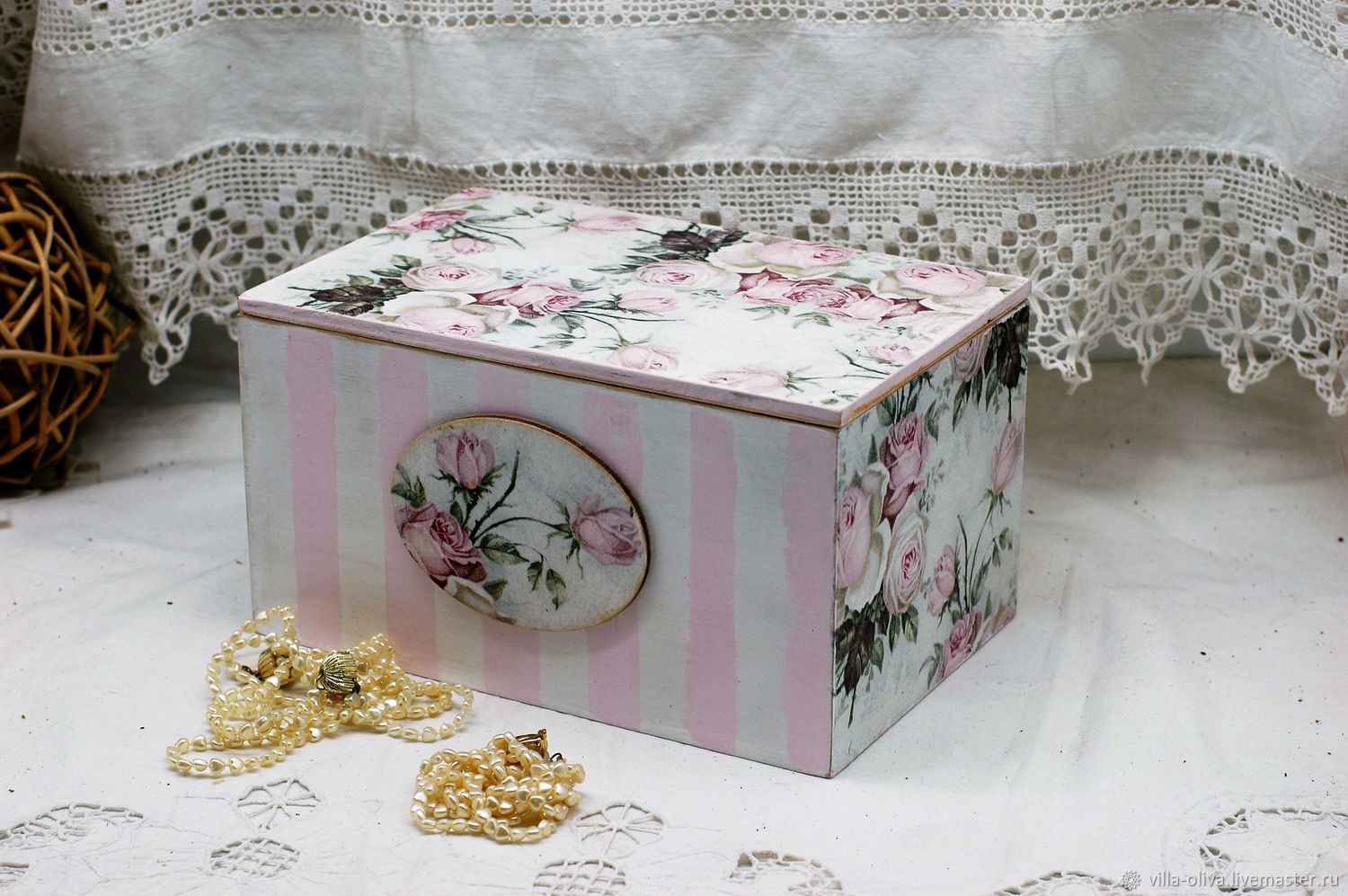 Box-box for storing the Tenderness of a rose, Storage Box, Moscow,  Фото №1