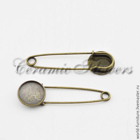 Для украшений ручной работы. Ярмарка Мастеров - ручная работа. Купить Английская декоративная булавка с круглой основой FR30-31. Handmade.