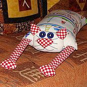 """Для дома и интерьера ручной работы. Ярмарка Мастеров - ручная работа Игрушка-подушка """"Радужный кот"""" морской. Handmade."""