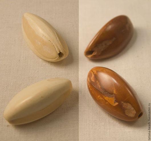 Для украшений ручной работы. Ярмарка Мастеров - ручная работа. Купить Бусины длинные коричневые из орехов пили (Филиппины), 25-50 мм. Handmade.