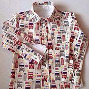 """Работы для детей, ручной работы. Ярмарка Мастеров - ручная работа Рубашка для мальчика """" Автобусы"""". Handmade."""