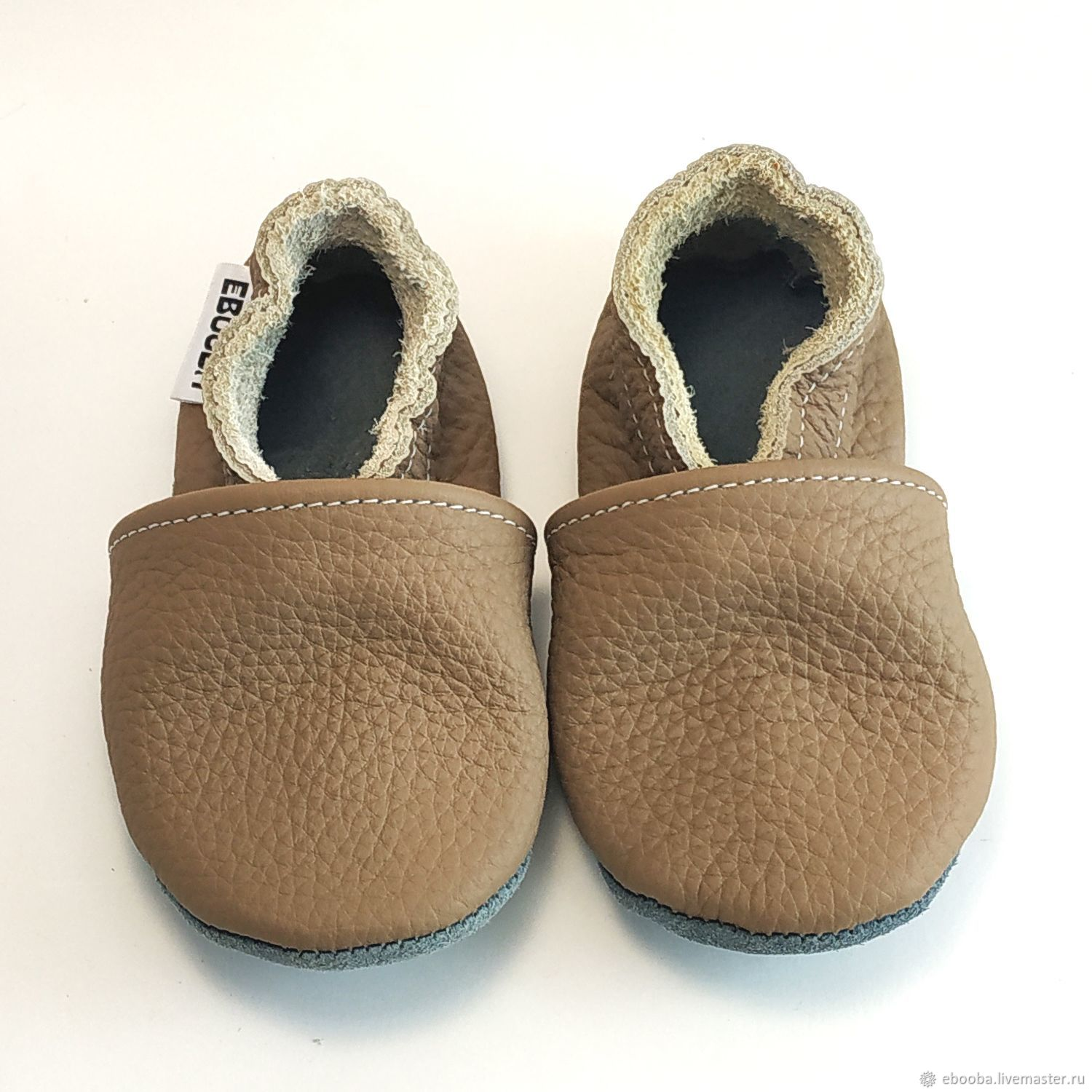 Light Brown Baby Shoes, Baby Moccasins