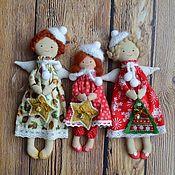 Куклы и игрушки ручной работы. Ярмарка Мастеров - ручная работа Новогодние ангелочки.. Handmade.
