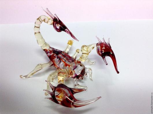 Статуэтки ручной работы. Ярмарка Мастеров - ручная работа. Купить Интерьерная скульптура из стекла - Скорпион Вришчика. Handmade. Скорпион, стекло
