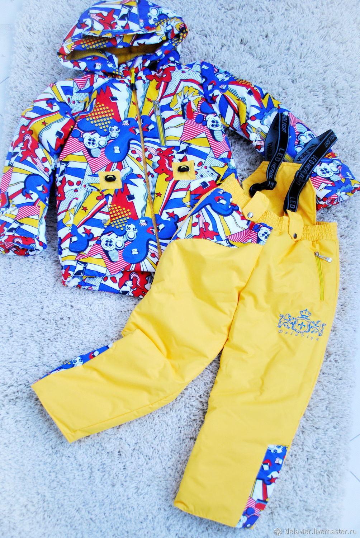 Детский комплект одежды `Пин-АП` очень теплый легкий и стильный от Марины Делавье