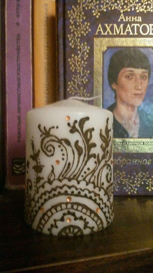 """Свечи ручной работы. Ярмарка Мастеров - ручная работа. Купить Свеча """"Менди"""". Handmade. Менди, восковая свеча, натуральная хна"""