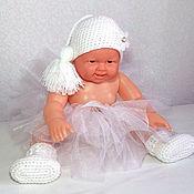 Работы для детей, ручной работы. Ярмарка Мастеров - ручная работа комплект для фотосессии новорожденных (шапочка крылья юбка пачка туту). Handmade.