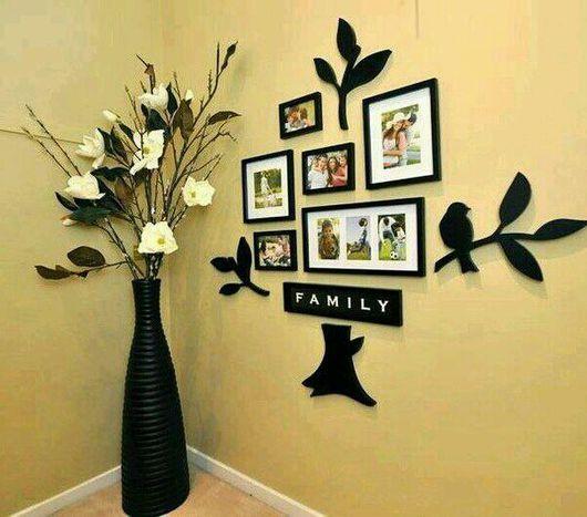 """Свадебные фотоальбомы ручной работы. Ярмарка Мастеров - ручная работа. Купить Стена дерево """"FAMILY"""".натуральное дерево.лазерная резка. Handmade."""