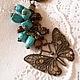 """Брелоки ручной работы. Брелок для сумки или ключей """"Волшебные бабочки"""". Natali Handmade. Ярмарка Мастеров. Брелок для ключей, агат"""