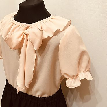 Одежда ручной работы. Ярмарка Мастеров - ручная работа Кофты: блузка «Поля». Handmade.