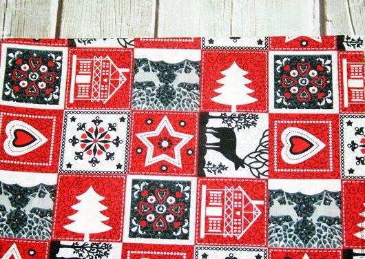 """Шитье ручной работы. Ярмарка Мастеров - ручная работа. Купить США Ткань для пэчворка """" Рождество и Новый год """". Handmade."""