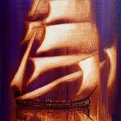Картины и панно ручной работы. Ярмарка Мастеров - ручная работа Картина Под золотыми парусами. Handmade.