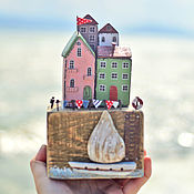 """Для дома и интерьера ручной работы. Ярмарка Мастеров - ручная работа Морская композиция """"Праздник на острове"""" driftwood. Handmade."""