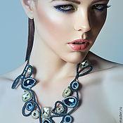 """Колье ручной работы. Ярмарка Мастеров - ручная работа Колье с камнями Swarovski """"Glam chic"""". Handmade."""