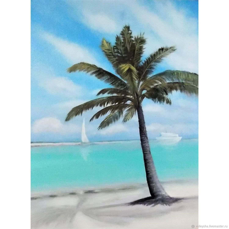 Море и пальма, Картины, Владимир,  Фото №1