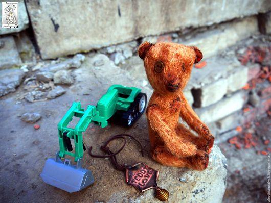 Мишки Тедди ручной работы. Ярмарка Мастеров - ручная работа. Купить Мишка тедди Найденыш. Handmade. Коричневый, подарок девушке