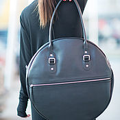 Сумки и аксессуары handmade. Livemaster - original item Leather bag, Round bag genuine leather. Handmade.