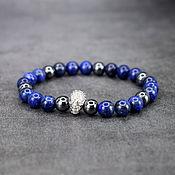 Украшения handmade. Livemaster - original item Men`s Bracelet natural lapis lazuli and hematite. Handmade.