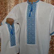 Одежда ручной работы. Ярмарка Мастеров - ручная работа вышиванка мужская. Handmade.