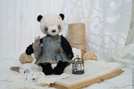 Мишки Тедди ручной работы. Ярмарка Мастеров - ручная работа. Купить Панды Лешка и Енька. Handmade. Черный, панда тедди