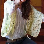 Жилеты ручной работы. Ярмарка Мастеров - ручная работа Вязаный жакет женский бледно-желтого цвета. Handmade.