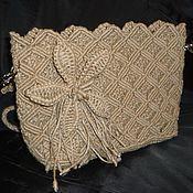 """Плетеная женская сумка """"Ромбы"""""""