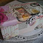 """Для дома и интерьера ручной работы. Ярмарка Мастеров - ручная работа Чайная коробка """"Сласлена"""". Handmade."""