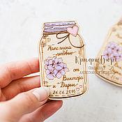 Сувениры и подарки ручной работы. Ярмарка Мастеров - ручная работа Магниты на свадьбу, из дерева. Handmade.