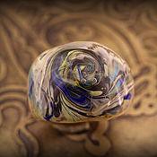 """Украшения ручной работы. Ярмарка Мастеров - ручная работа """"Песчаная буря"""" лэмпворк кольцо. Handmade."""