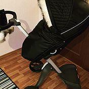Козырек для коляски ручной работы. Ярмарка Мастеров - ручная работа Зимний кит на коляски Stokke. Handmade.