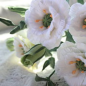 Цветы и флористика ручной работы. Ярмарка Мастеров - ручная работа Букет лизиантусов. Handmade.