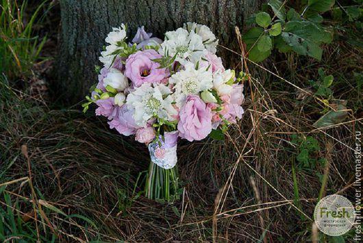 Свадебные цветы ручной работы. Ярмарка Мастеров - ручная работа. Купить Нежно-розовый букет невесты. Handmade. Бледно-розовый