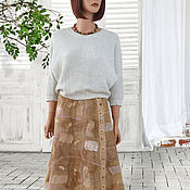 Одежда handmade. Livemaster - original item Felted skirt with a smell of beige patchwork style. Handmade.