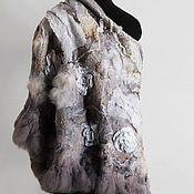 """Аксессуары ручной работы. Ярмарка Мастеров - ручная работа Шаль """"Эвелин"""" (валяная шаль). Handmade."""