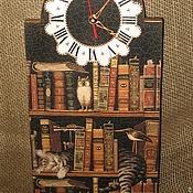"""Для дома и интерьера ручной работы. Ярмарка Мастеров - ручная работа Часы настенные """"Читатель -2"""". Handmade."""