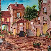"""Картины и панно ручной работы. Ярмарка Мастеров - ручная работа """"Солнечное средиземноморье"""" Картина маслом. Handmade."""
