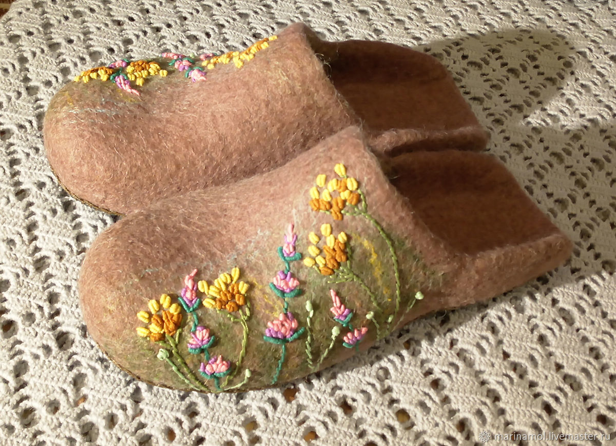 Women's felted Slippers Summer, goodbye!, Slippers, Miass,  Фото №1
