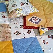 Для дома и интерьера ручной работы. Ярмарка Мастеров - ручная работа Лоскутное одеяло Мишки. Handmade.