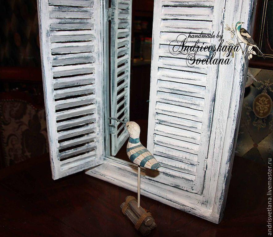 зеркала ставни в рустикальном стиле заказать на ярмарке мастеров 1s7zjru зеркала москва