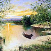 Картины и панно handmade. Livemaster - original item 34 Landscape oil Painting Bezmyatejnosti Chernov. Handmade.