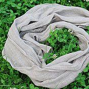 Аксессуары handmade. Livemaster - original item Linen scarf natural grey boho male. Handmade.