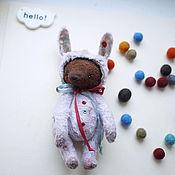 Куклы и игрушки ручной работы. Ярмарка Мастеров - ручная работа мишка-зайка. Handmade.