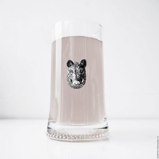 Подарки для мужчин, ручной работы. Ярмарка Мастеров - ручная работа. Купить Кружка пивная КАБАН (кружка для пива 0.33 л). Подарок на 23 февраля. Handmade.